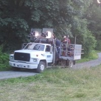 The Rig travels down the path